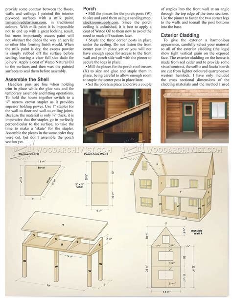 wooden dolls house plans doll house plans woodarchivist