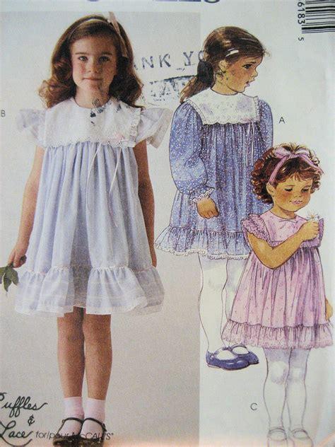 vintage pattern girl mccalls 3618 vintage 80s pattern girls 4 pullover yoke