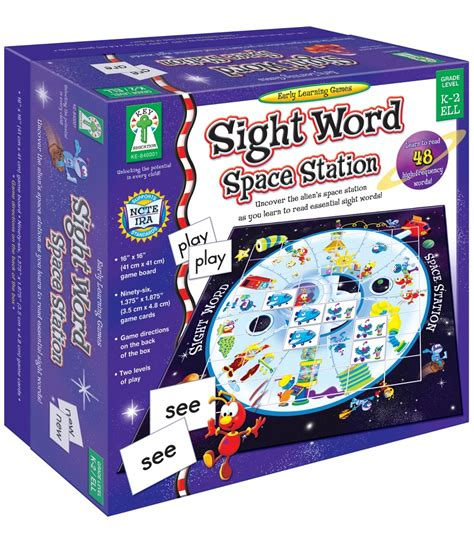 sight word space station board grade k 2 carson dellosa publishing