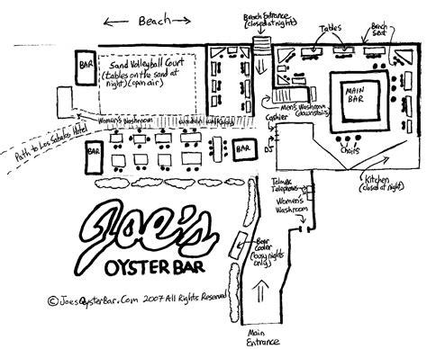 layout for main bar area joe s oyster bar layout in mazatl 225 n mexico