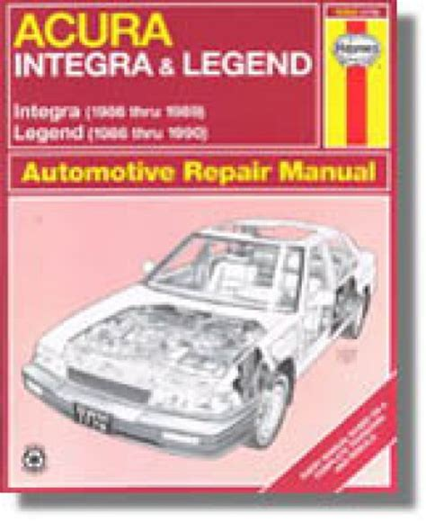 haynes acura integra legend auto 1986 1990 repair manual