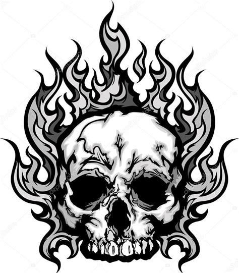 flaming skull logo www imgkid com the image kid has it