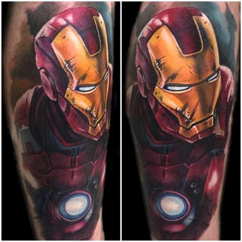 color realistic iron man tattoo evan olin tattoos