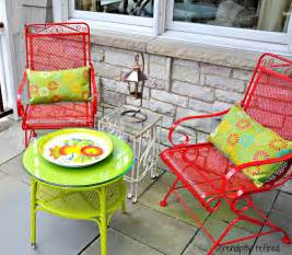 painting metal patio furniture serendipity refined wicker and wrought iron patio