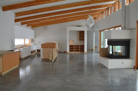 mode concrete concrete floors look amazing in this brand new contemporary home in