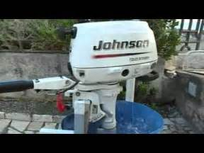 johnson 6 hp outboard motor four stroke running youtube