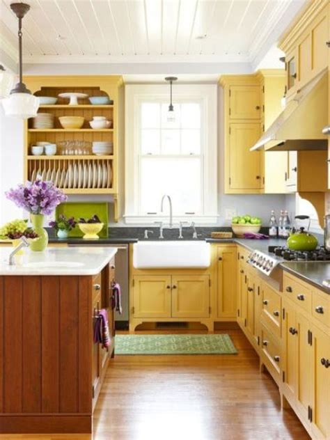 yellow kitchen decor ideas  raise  mood digsdigs
