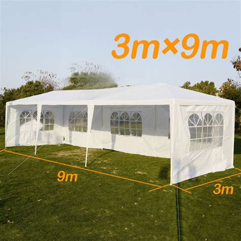 backyard marquee 3x9m outdoor tent folding canopy marquee pop up