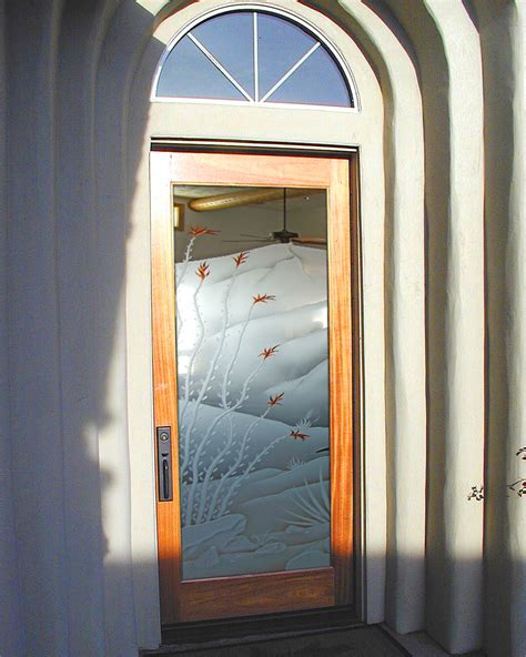 Exterior Entry Doors With Glass Etched Glass Door Sans Soucie Glass