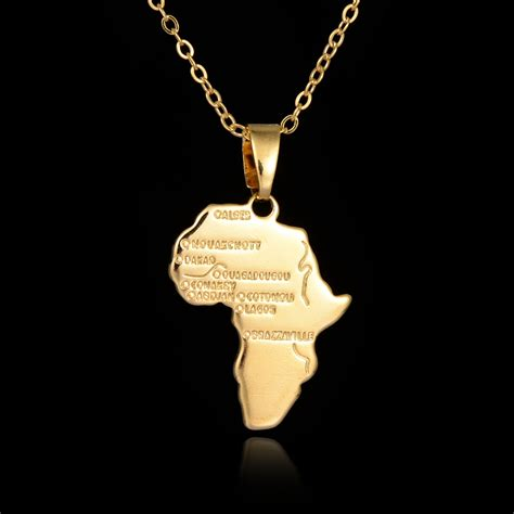 africa map pendant necklace great 18k gold plated africa country map pendant necklace