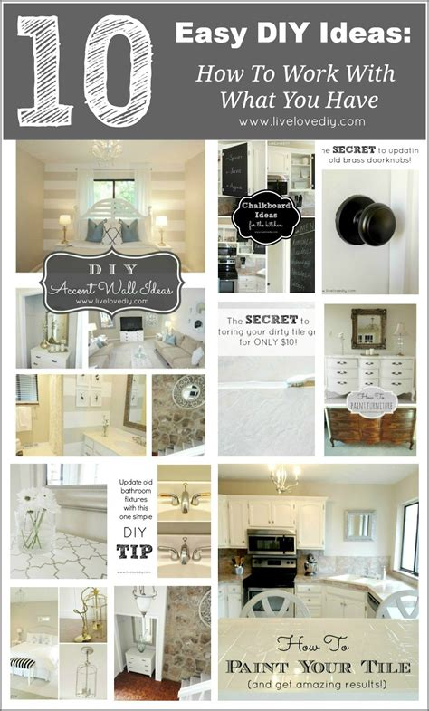 10 diy home improvement ideas diy and crafts