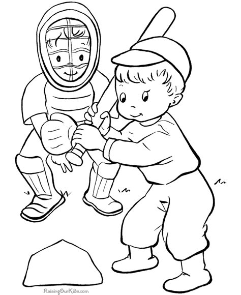 Baseball Coloring Sheet To Print 005 Free Printable Sports Coloring Pages