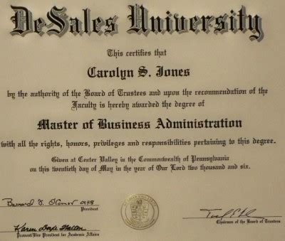 Bsn Mba Degree education carolyn s jones