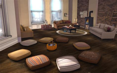 Floor Cushion Living Room by Add Comfort To Your Living Room With Big Floor Pillows