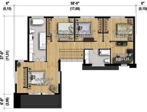 modern master bedroom floor plans 4 bed modern house plan with master deck 80828pm 2nd