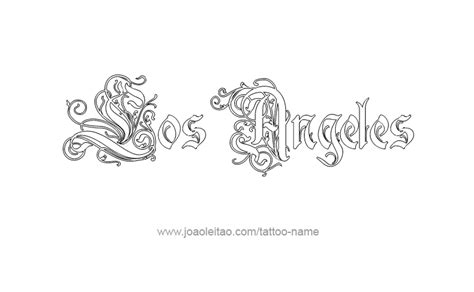 tattoo font los angeles los angeles logo tattoo designs images