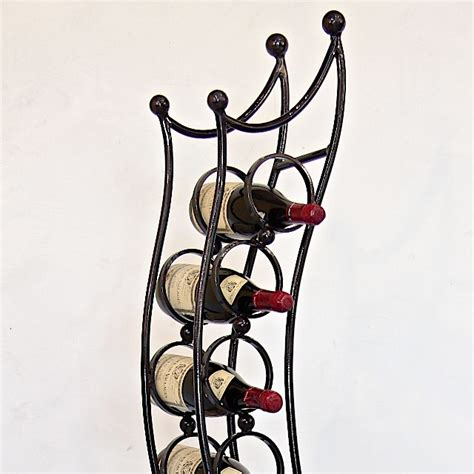 asahi 10 bottle wine rack iron chinchilla