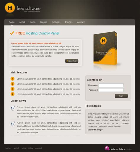 html themes for website free free website html css template h web design survivalist