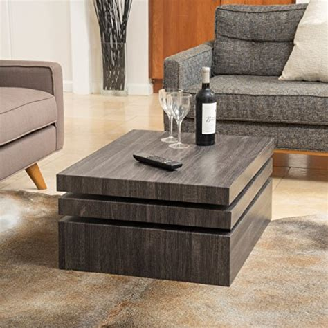 haring square rotating coffee table great deal furniture haring square rotating wood coffee