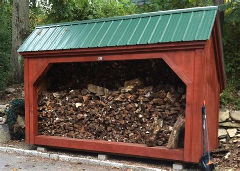 Firewood Shed Kits by Woodbin 6x Wood Shed Plan Jamaica Cottage Shop