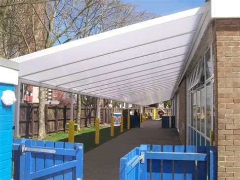 awnings portsmouth charles dickens infant school installation able