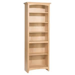 unfinished wood bookshelves alder 72 x 24 wide bookcase unfinished