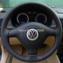 Steering Wheel For Vw Golf Black Leather Steering Wheel Cover For Volkswagen Vw Golf
