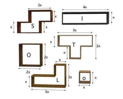 scaffale su misura scaffale tetris in legno massello