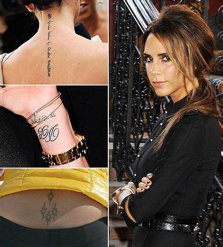 victoria beckham wrist tattoo beckham tattoos ink tattoos picture