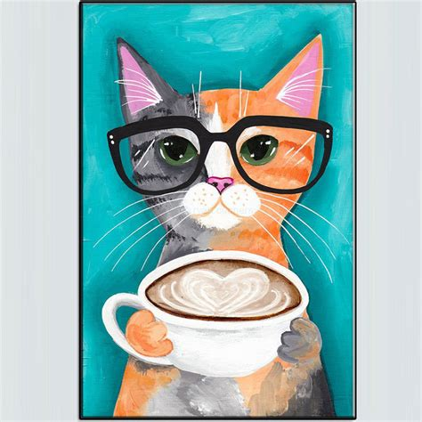 cat painting tips 2017 limited handmade a latte with original for cat