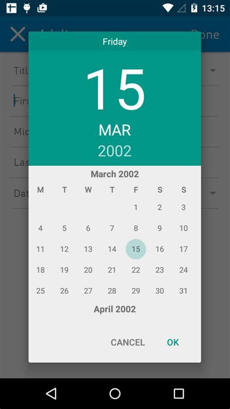 java android marshmallow custom calendar date picker