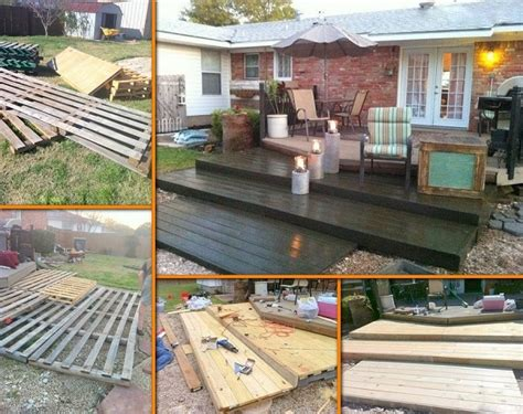 how to construct a deck diy wooden pallet deck for 300 home design