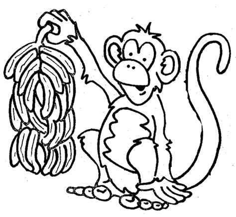 colouring monkey clipart best black and white drawing of monkey clipart best