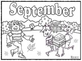 september color educational months coloring pages