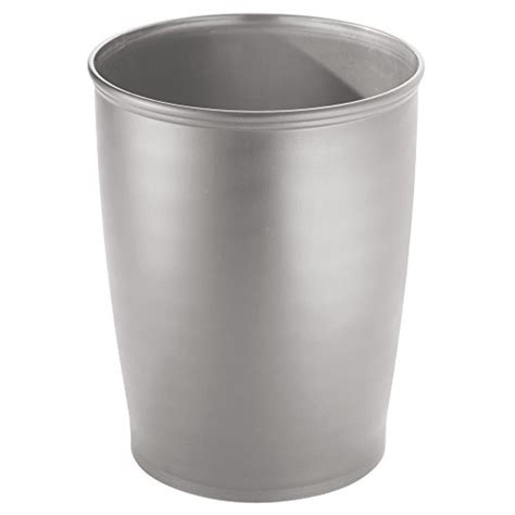 silver bathroom trash can interdesign kent tall trash can for bathroom kitchen or