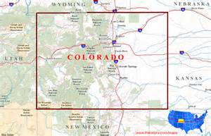 state colorado map colorado maps