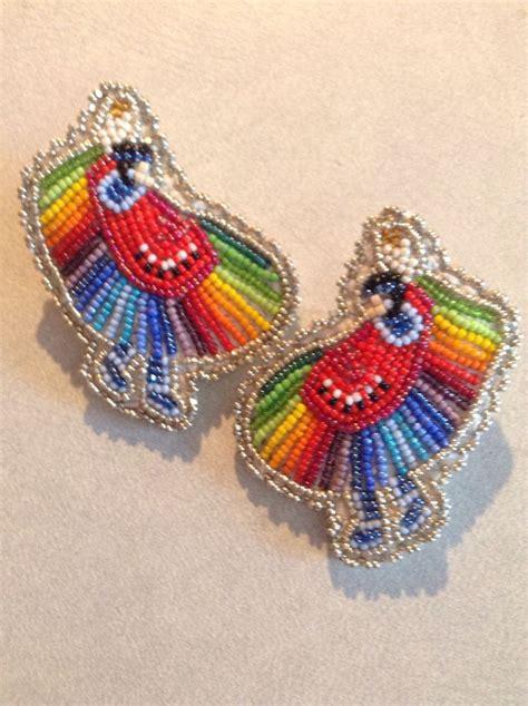 beadwork earrings mini fancy dancer earrings beadwork bead sewing
