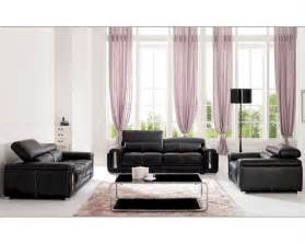 black leather living room italian leather living room set in black esf2992set