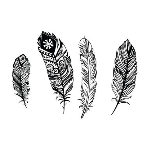 feather tattoo etsy four feathers set temporary on etsy 7 50