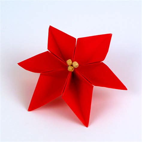 Origami Poinsettia Flower - planetjune by june gilbank 187 origami poinsettia