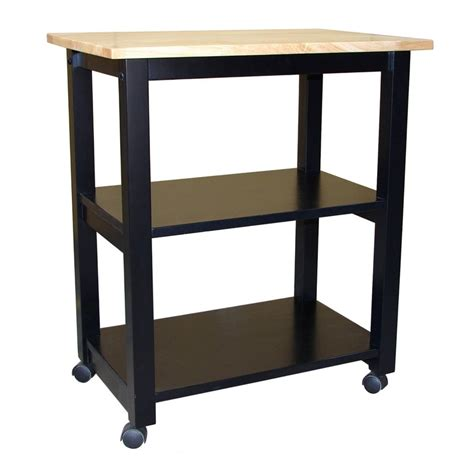 Lowes Kitchen Cart by Shop International Concepts Black Rectangular