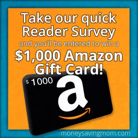 Take Surveys For Amazon Gift Cards - you could win a 1 000 amazon gift card take a quick reader survey