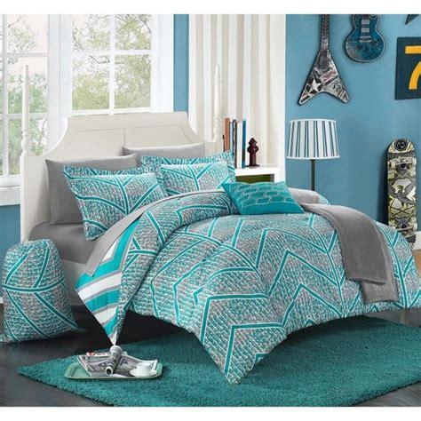 chic home design bedding chic home amaretto chevron reversible 10 piece bed in a