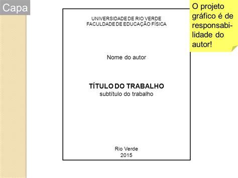 Abnt Tcc Como Requisito Parcial Para Obtenção Do Grau Mba by Normas Abnt Metodologia Cient 205 Fica Ppt Carregar