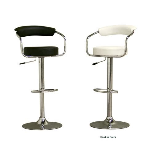 Wholesale Bar Stools by Wholesale Interiors Set Of Two Adjustable Vinyl Bar Stools Black Or White Br0022