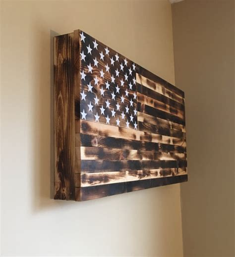 wood american flag gun cabinet burnt american wooden flag hidden gun cabinet secret