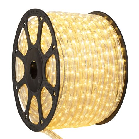 100ft warm white led rope light