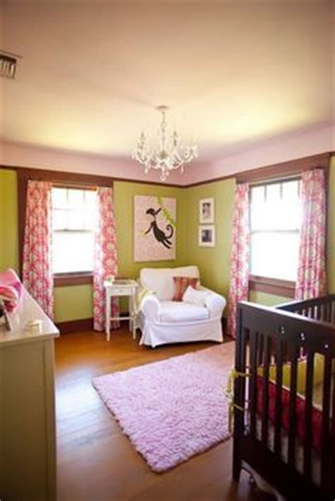Pink And Green Curtains Nursery Pink Green Nursery On Pinterest Elephant Nursery Vintage Baseball Nursery And Blue Green