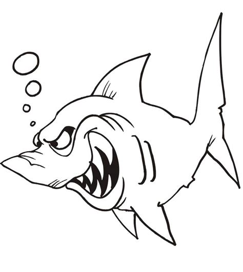 funny shark coloring page cartoon shark pics cliparts co