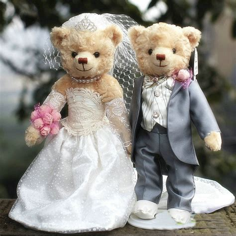 lover plush teddy bear dolls wedding dresses teddy bear
